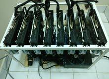 8 x Rx580 Sapphire Nitro+ 8Gb GDDR5 Mining Rig
