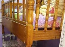 سرير عموله خشب زان