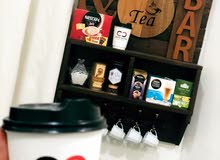 ركن قهوة وشاي مميز وعصري وجذاب .