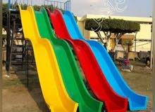 شلال زحليق 4 متر من مصنع العاب اطفال فيبر جلاس