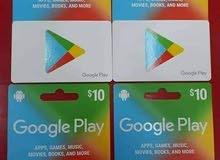 بطاقات وحسابات جوجل بلاي صيني