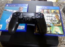 ps4 slim 500 gb  malyon w 600 bytzbt se3ra