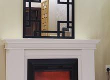 مدفأة الديكور خشبي الطلاء حسب الرغبة.  مقاس ايضا يترواح من 135 ل122 حسب الرغبة