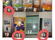 English books for sale 5 riyal each