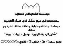 شقة للبيع في الرابيه بمساحة 210م2 + حديقة 250م2
