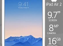 iPad Air 2 بسعة ذاكرة 16 اللون ذهبي نظيف جدا مع كامل ملحقاته