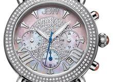 ساعة نسائية مميزة وراقية جدا مرصعة ب 160 فص الماس طبيعي ومطلية ذهب ابيض عيار 18