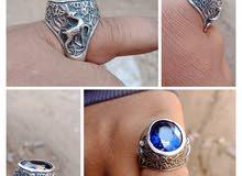 خاتم إيراني متوج بجوهره من الزفير الإفريقي