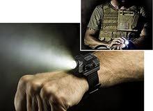 ساعة يد - بمصباح LED وبوصلة، قابلة للشحن، بتصميم عملي