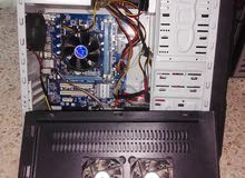 كومبيوتر مكتبي (كيس+شاشة+ماوس+كيبورد+بفلات صوت)
