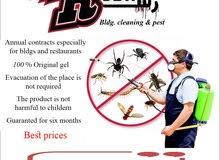 pest control رش ومكافحه كل انواع الحشرات