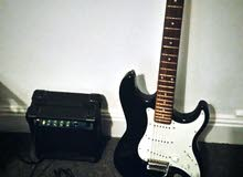 Electric guitar with stagg amp + cable + bag
