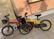 الاثنین دراجه الهواييه للاطفال عمر 6-10سنه سايز18و20و استاند مع12سله مع اکثر من50سیارات صغیر وکبیر