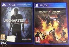 Uncharted 4 & Dragon Dugma in English and Arabic language