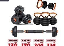 Kettlebells / Adjustable Dumbbells / Barbell / Push Ups Shelf Weights Set 10,15 ,30 kgs