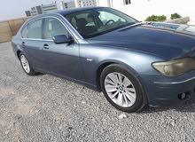 Blue BMW 740 2006 for sale