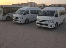 White Toyota Hiace 2018 for rent
