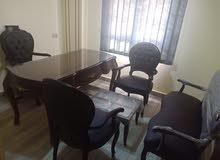 طقم مكتب كامل خشب زان احمر مطعم نحاس بسعر خاص لفتره محدوده