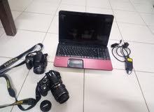 my photography equipment TOSHIBA LAPTOP AMD E3 processor 2GB RAM 500GB Hardisk ,