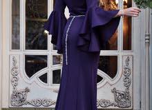 فستان سهرة من اثقل انواع القماش