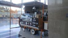 عربة قهوة مجهزة بالكامل للبيع