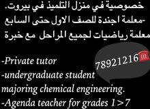 طالبة هندسة كيميائية تعطي دروس خصوصية في منزل التلميذ في بيروت.