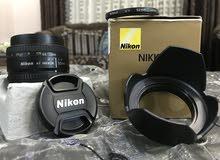 عدسة نيكون 50mm, 1.8d
