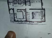 خمس قصب مبني عليها حجر شعبي لعند السقف بتعز بجبل بوادي القاضي مطل على تعز
