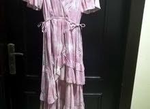 فستان سهرة زهري غير ملبوس