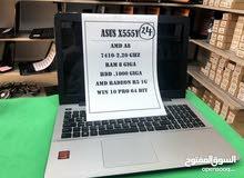 لاب توب Asus AMD مع كرت شاشة 1GB تصميم والعاب