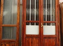 4 ابواب خشب بحديد الحماية ركب طول بسعر كزيوني