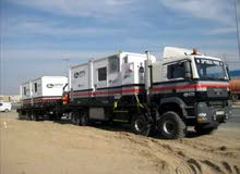 شاحنة حجم كبير دبل 8×8 مع هيب كرين ومقطوره