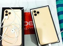 Used New Apple Mobile IPhone 11 Pro Max Gold 350 KWD Only 2month Old With Good