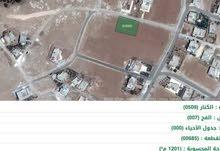 ارض للبيع بمساحه 1207م غرب زحوم، شمال كليه الكرك