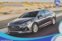 Grey Hyundai Sonata 2018 for rent