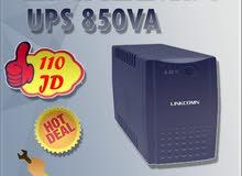وحدات الطاقة اللامنقطعة UPS  لانظمة المراقبة و شبكات الكمبيوتر  من نوع Linkcomn بسعر 110 دينار فقط