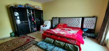 King size bed set with a wardrobe
