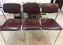 Stainless steel chair 3 Pcs