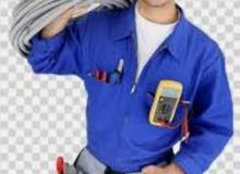 كهربائي فني كهربائي وصيانة اجهزه كهربائيه منزليه تركيب لدات و