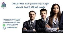 تأسيس شركات أجنبية فى مصر وتقديم خدمات استشارية للمسثمرين  الأجانب
