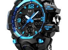 ساعة يد مقاومة للماء بعقارب/ رقمية، طراز SKM 1155 للرجال