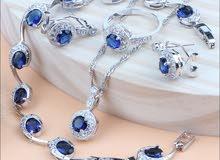 Blue Jewelry Sets Zircon
