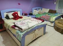 غرفه نوم 2 سرير فردي كامله من هوم سنتر