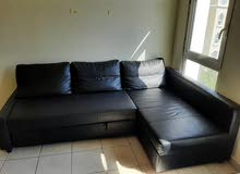 Black ikea sofa bed for sale