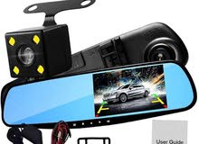 شاشة مرايا بكاميرا امامية وخلفية HD