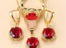 Red Jewelry Sets Zircon