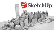 دورة في البرنامج الهندسي سكيتش أب  sketchup و برنامج VRAY