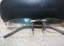 نظارة Porsche  فرملس copy مع تلبيسة (مشبك) نظارة شمسية بحالة ممتازة