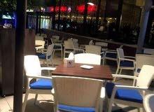 تجهيز مطاعم من / كراسي وطاولات بلاستك ثقيل راتان او ساده