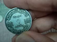 عملة مغربية قديمة 2فرانك